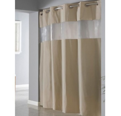 Window Hookless Shower Curtain